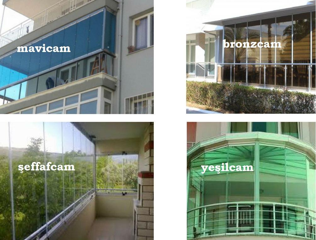Cam balkon renk çeşitleri